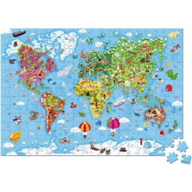 Janod Puzzel - Wereld Giant (vanaf 7 jaar)