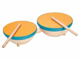 Plantoys Houten Dubbele Trommel - Double Drum
