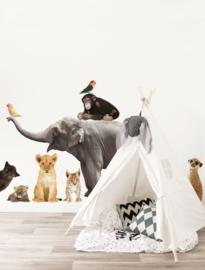 Kek Amsterdam Muursticker - Safari Friends Set Olifant XXL (MS-251)