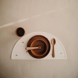 Mushie Kom Rond (set van 2) - Caramel