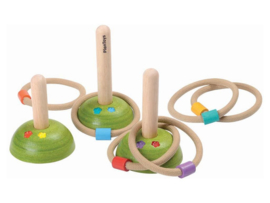 Plantoys Houten Ringspel - Meadow Ring Toss