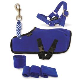 Crafty Ponies Fleecedeken Set Blauw incl. instructieboekje