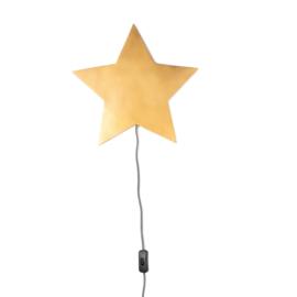 KidsDepot Wandlamp Barbe Ster - Goud