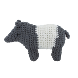 Sebra Crochet Rattle Rammelaar - Tip the Tapir