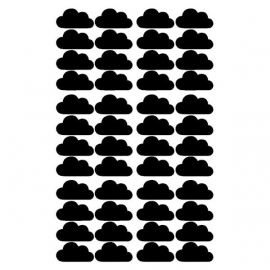 Pom Muurstickers - Wolkjes (zwart)