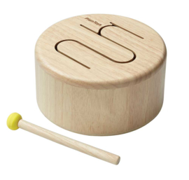 Plantoys Houten Trommel - Naturel