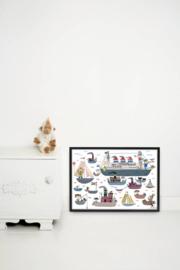 Kek Amsterdam Poster A2 - Fiep Westendorp Holland Amerika Lijn (PS-009)