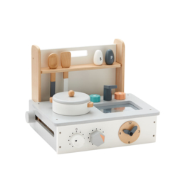 Kids Concept Draagbaar Mini Keukentje - Naturel