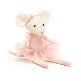 Jellycat Pirouette Mouse Candy - Knuffel Muis (27 cm)