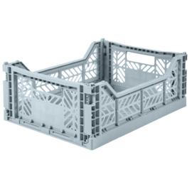 AyKasa Folding Crate Midi Box - Pale Blue