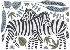 Lilipinso Tanzania Muursticker XL - Zebra Koppel