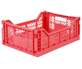 AyKasa Folding Crate Midi Box - Dark Pink