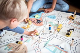 Play and Go Speelgoedkleed en opbergzak - LA Roadmap (dubbelzijdig)