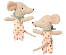 Maileg Baby Mouse Sleepy/Wakey in Box - Girl (8 cm)