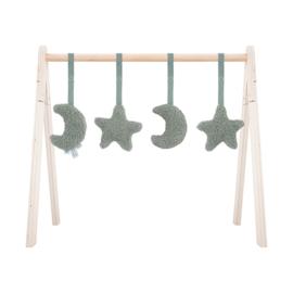 Jollein Babygym Speeltjes Moon - Ash Green (set van 4)