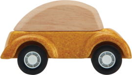 Plantoys Road System Houten Auto Geel + 3jr