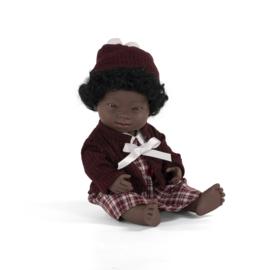 Miniland Pop Afrikaans Meisje met Syndroom van Down - Girl (38 cm)