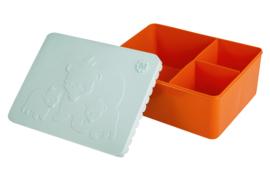 Blafre Lunchtrommel Beren - Licht Blauw / Oranje