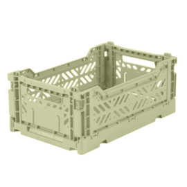 AyKasa Folding Crate Mini Box - Lime Cream
