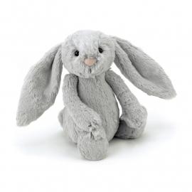 Jellycat Bashful Bunny Silver - Knuffel Konijn Zilver Grijs (18 cm)