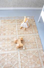 KidsDepot Vloerkleed Hana Jute / Katoen -Natural (80x150cm)