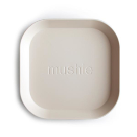 Mushie Bord Vierkant (set van 2) - Ivory