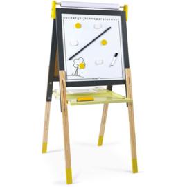 Janod Schoolbord Geel -  In hoogte Verstelbaar (incl. magnetisch white board)