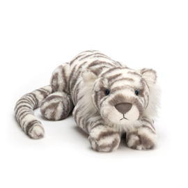 Jellycat Big Cats Sacha Snow Tiger - Knuffel Tijger Medium (29 cm)
