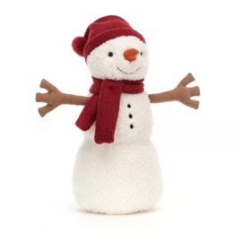 Jellycat Kerst Knuffel Sneeuwpop - Teddy Snowman Large (34 cm)
