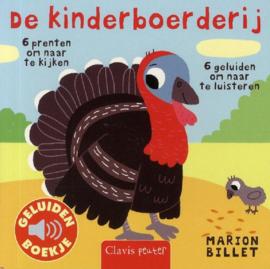Uitgeverij Clavis Geluidenboekje - De Kinderboerderij +1jr