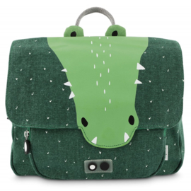 Trixie Rugzak Schooltas Satchel Mr Crocodile - Groen