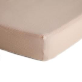 Mushie Hoeslaken Extra Soft Muslin Crib Sheet - Blush