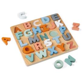 Janod Sweet Cocoon - Alfabet Puzzel en Krijtbord