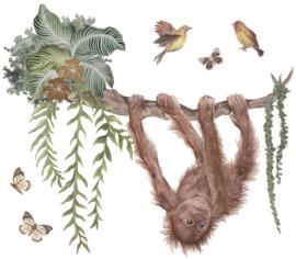 Lilipinso Utan Muurstickers XL - Orang Oetan Baby (80 x 70 cm)