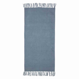 KidsDepot Vloerkleed Hette PET Polyester - Blauw (70x140cm)