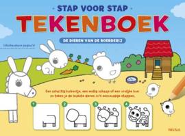Uitgeverij Deltas De Dieren van de Boerderij Tekenboek - DIY