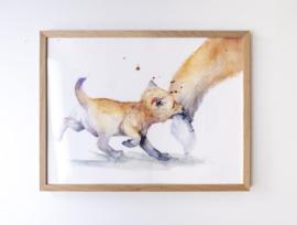 Veer Illustratie Poster - Baby Vos