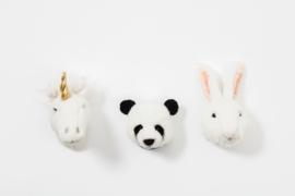 Wild and Soft Mini Lovely Box set van 3 Dierenkoppen - Eenhoorn, Panda, Konijn