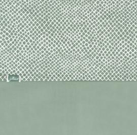 Jollein Ledikant Laken Snake - Ash Green (120 x 150 cm)