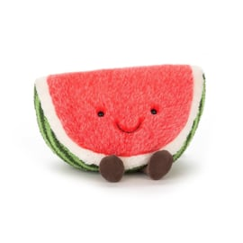 Jellycat Amuseable Watermelon Large - Knuffel Watermeloen (15 cm)