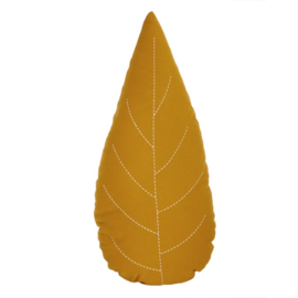 Roommate Kussen Leaf - Yellow ochre