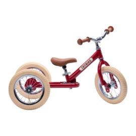 Trybike Steel 2-in-1 Loopfiets - Vintage Rood