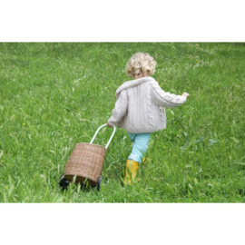 Olli Ella Luggy Basket - Straw
