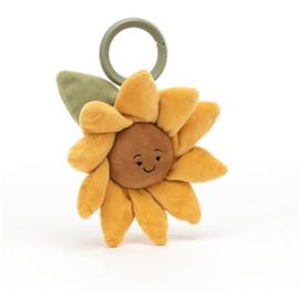 Jellycat Fleury Sunflower - Vibrerende Babyspeeltje Zonnebloem