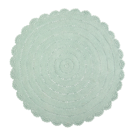 KidsDepot Vloerkleed Roundy - Mint (Ø 110cm)