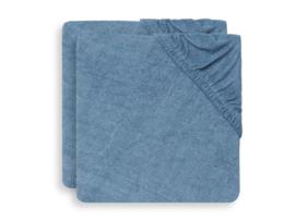 Jollein Aankleedkussenhoes Badstof - Jeans Blue (set van 2)