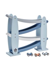 Kids Concept Racebaan - Blauw (zigzag)