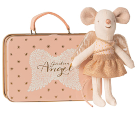 Maileg Guardian Angel Mouse in Suitcase - Little Sister (10 cm)