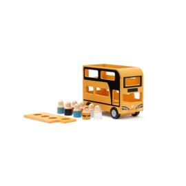 Kids Concept Gele Dubbeldekker Bus - Aiden