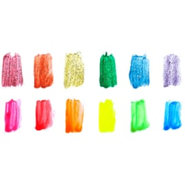 Ooly Verfset Neon en Glitter - 12 kleuren